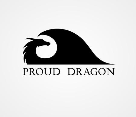 Dragon logo template sillhouette