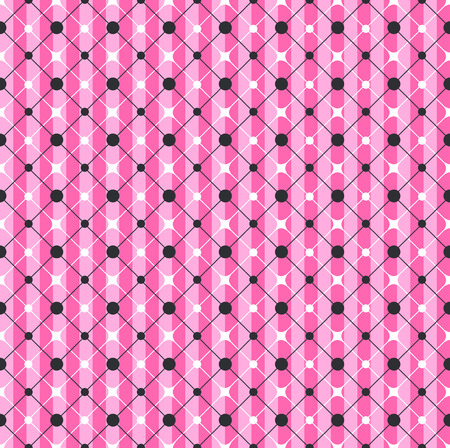 Glamour Pink Striped Geometric Seamless Pattern design Ilustrace