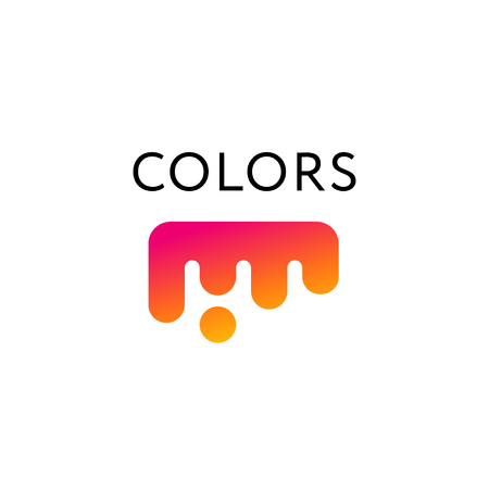Colorful liquid abstract flat logo vector icon Ilustrace