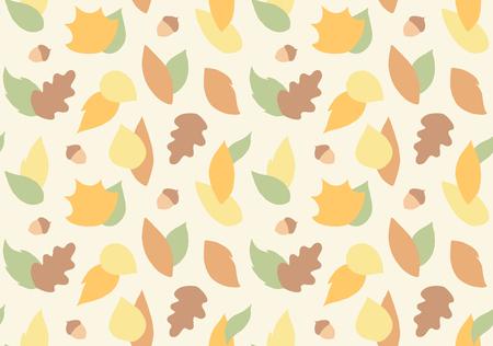 Autumn leaves flat seamless pattern print design Ilustrace