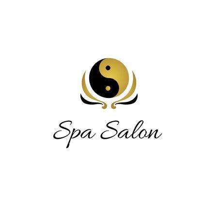 Yin yang spa salon logo design
