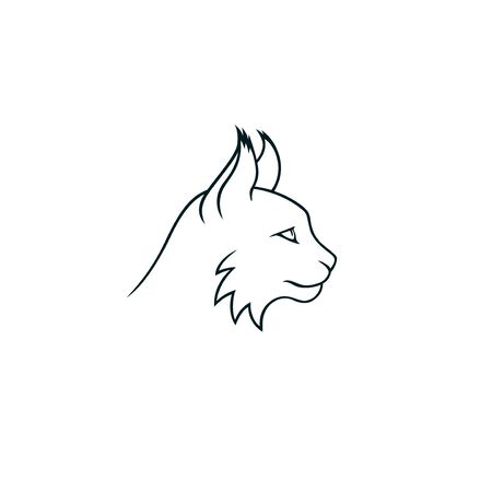 Lynx minimalistic linear logo isolated head