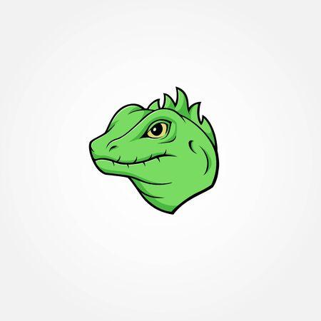 Lizard colorful mascot logo design isolated reptile