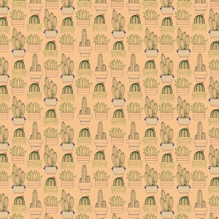 Cactus and Succulents seamless pattern perfect for textile design