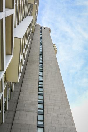 gentrification: High condominium with blue sky at Ladprao, Bangkok, Thailand Editorial