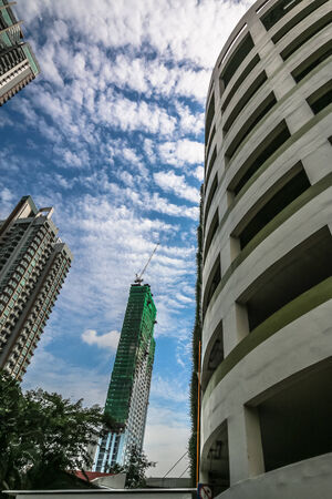 gentrification: Higth buildings with bluesky