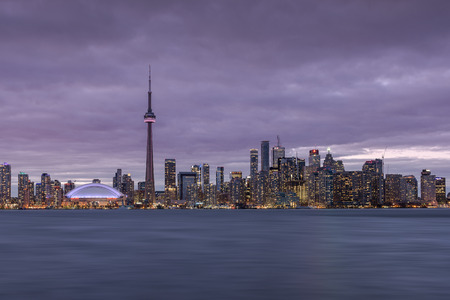 waterfront: The Skyline of Toronto Editorial