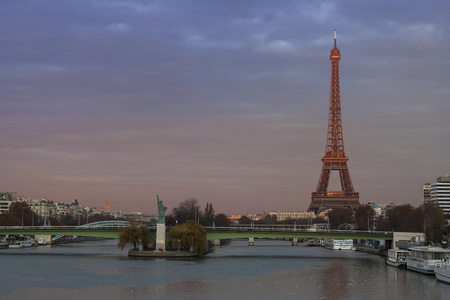 morning blue hour: Paris