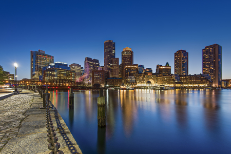 boston tea party: The Skyline of Boston Editorial