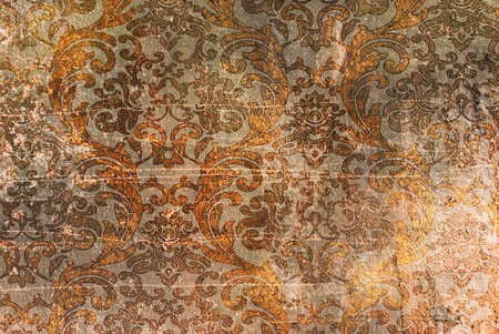 Vintage background with light renaissance ornament Stock Photo