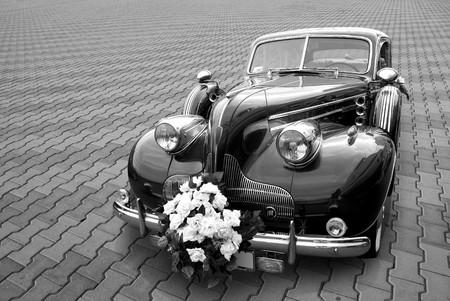 Hochzeit Limousine auf einen Stein Blöcke