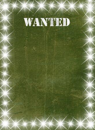 buckaroo: Green vintage poster in star light style Stock Photo