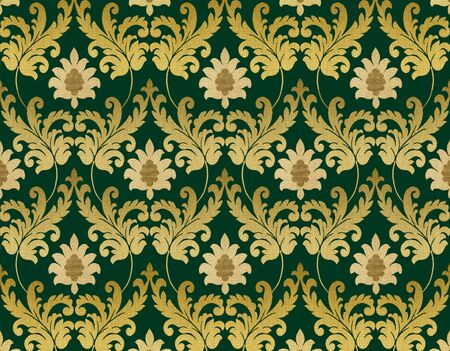 Decorative emerald green renaissance background Stock Photo - 4607854