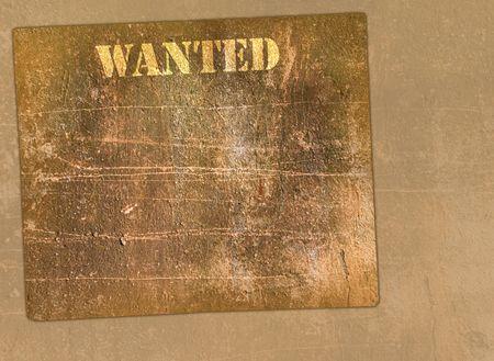 buckaroo: Horizontal retro poster in Wild West style