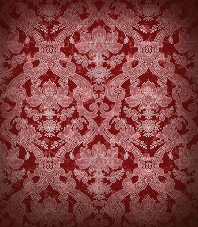 western pattern: Decorative dark red renaissance background