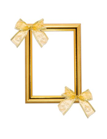 Classical frame with bows isolated on white Stock Photo - 4719058