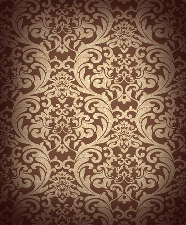Decorative brown renaissance background Stock Photo