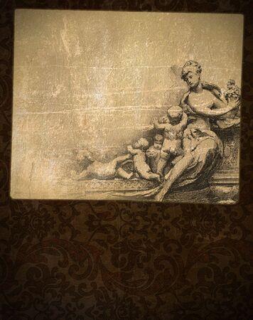 Vintage blank on the renaissance background