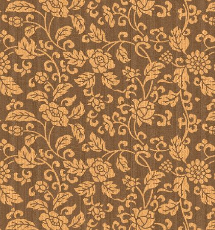 leafs: Decorative fabric flower background