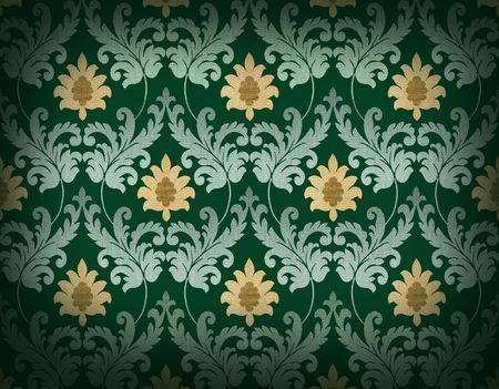 Decorative emerald green renaissance background Stock Photo - 4848291