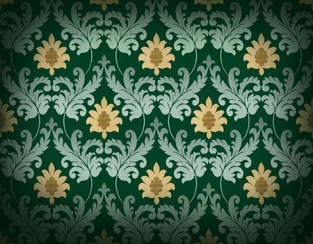 Decorative emerald green renaissance background Stock Photo - 4848291