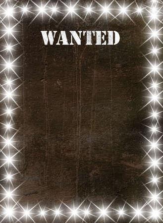 buckaroo: Vintage poster in star light style