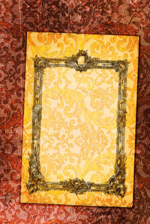 Vintage form with an antique frame on the Renaissance background Stock Photo - 4993617