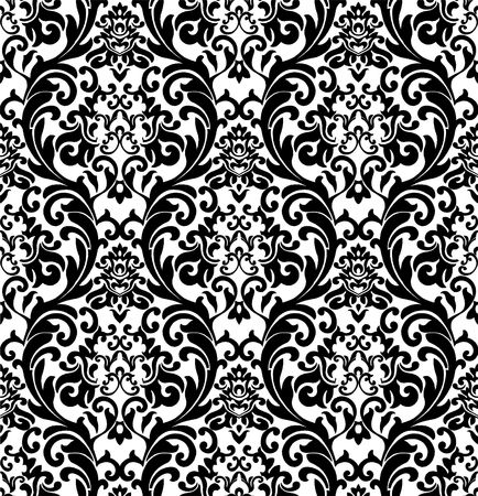 black silk: Decorative renaissance black and white background