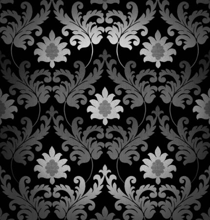 damask: Retro black and white background
