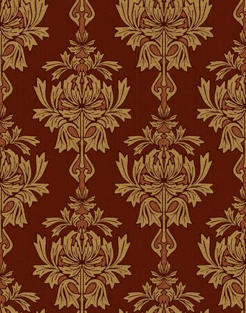 red with gold damask background Stock Photo - 5080679