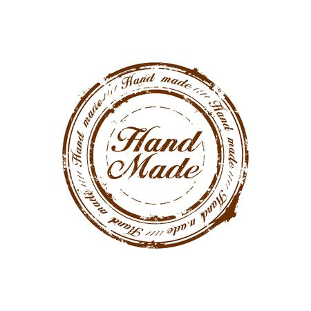 hand made: vector hand made quality stamp Stock Photo
