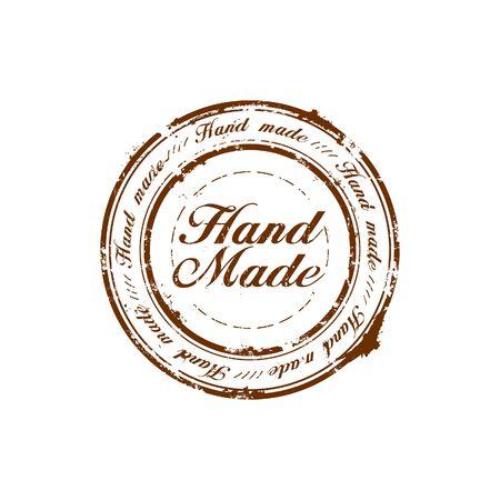Wektor Ręczna robota pieczęć jakości