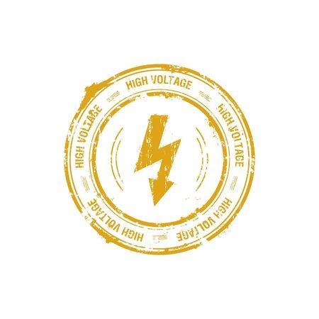 High voltage vector stamp Stock Photo - 5726119