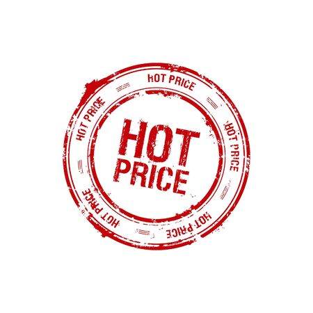 vector hot price red stamp Stock Photo - 5726121