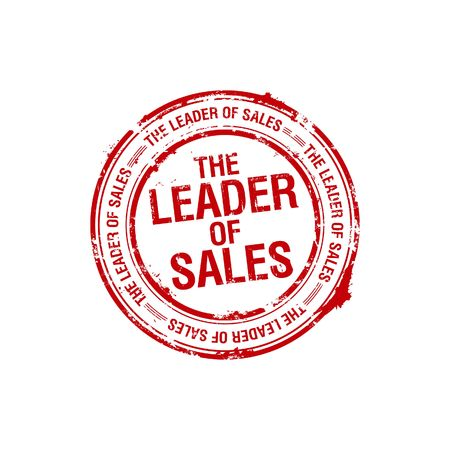 vector leader of sales stamp photo