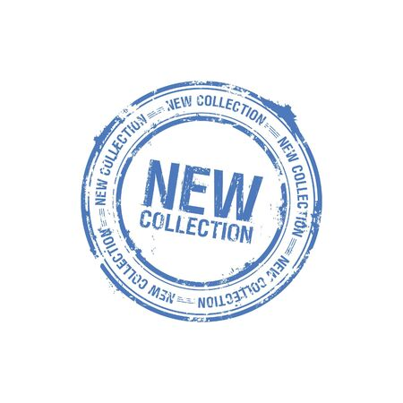 vector new collection stamp Stock Photo