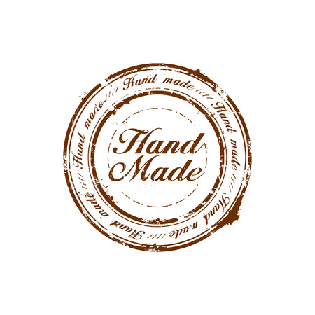 vector hand made quality stamp Illustration