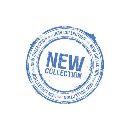 nuevo sello de colección de vector Ilustración de vector