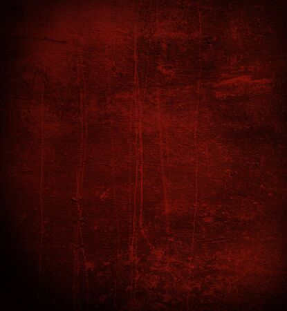 Scratched gloomy dark red wall  Stock Photo