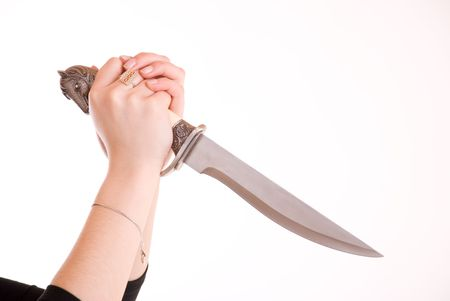 slayer: Knife in hand ready to stab