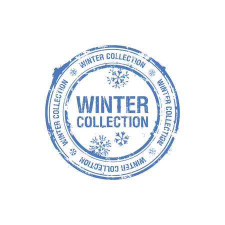 vector winter collection stamp Vector