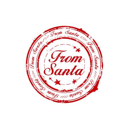sello de goma: Desde el sello de caucho de Santa  Vectores