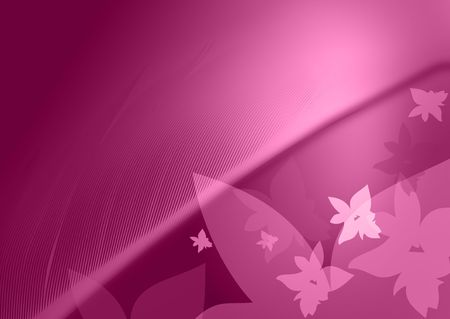 violet background with flowers and feather Stock Photo - 6192219
