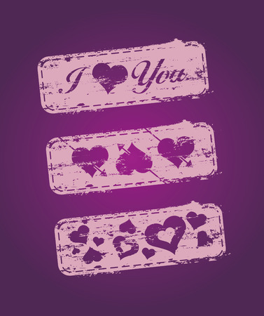 Set of stamps on love subjects Stock Vector - 6204812