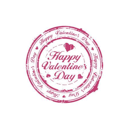 Happy Valentine Day rubber stamp Stock Vector - 6246518