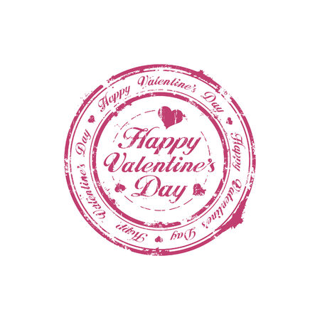 Happy Valentine Day rubber stamp Vector