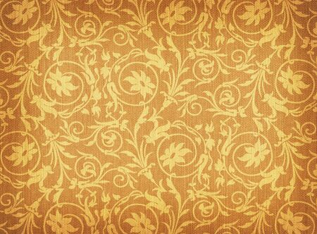 textile background with floral ornament
