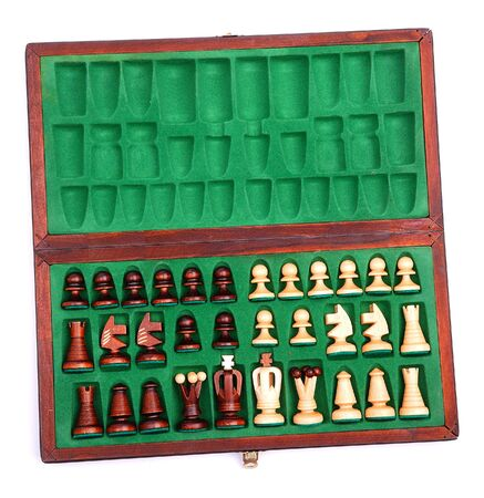 box with a chess on white Stock Photo - 6410212