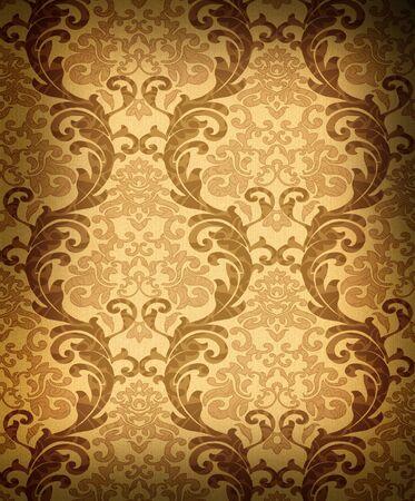 repeating: Seamless damask wallpaper Stock Photo