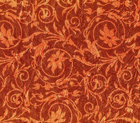 Drogie czerwony tkaniny pomarszczenia z wzór kwiatowy